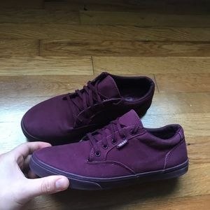 Women's Purple Vans Low Tops